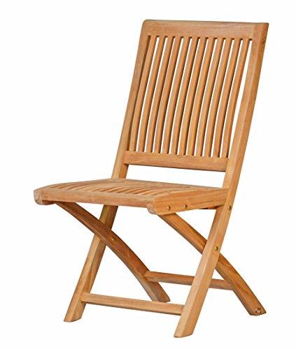 Klappstuhl Vitello aus Teakholz ✓ Wetterfest ✓ Nachhaltig ✓ Ergonomischer Holz-Klappstuhl | Bequemer Gartenstuhl, Balkonstuhl für draußen | Hochwertiger Klappsessel, Balkonsessel für den Garten | Klappbarer Stuhl, Sonnenstuhl aus Massivholz