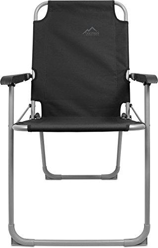 normani Leichter Klappstuhl Angelstuhl Campingstuhl bis 90 Kg Belastbarkeit in 11 verschiedenen Farben Farbe Schwarz