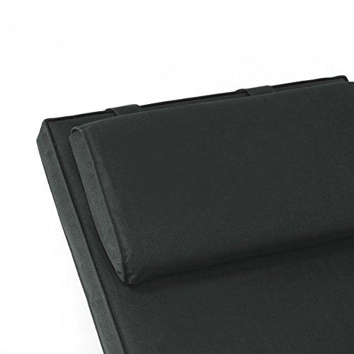 Nexos Divero Liegenauflage für Deckchair Steamer Sitzpolster für Gartenmöbel Holzliege Liegestuhl – Bequem Hochwertig Robust - Anthrazit