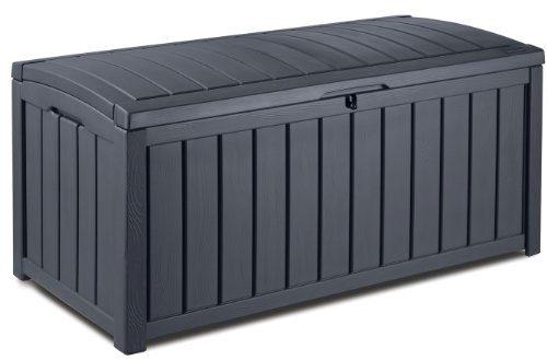 Keter 17193522 Kissenbox, regenfest, Glenwood, Balkon, grau, 390 L