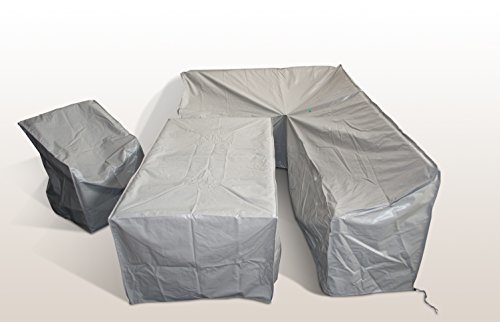 Gartenmöbel Schutzabdeckung RAGNARÖK-MÖBELDESIGN Schutzhülle für Modell DS-23 Dinning Sofa Husse schwere LKW Plane Maßgefertigt 3Teilig