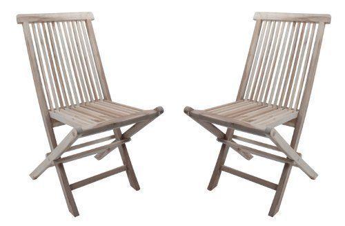 SAM Sparset: 2 x Teak-Holz Garten- Klappstuhl Java, Hochlehner aus Massivholz, für Balkon, Terrasse oder Garten