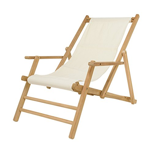 Maxx Deckchair Liegestuhl Acryl - natur