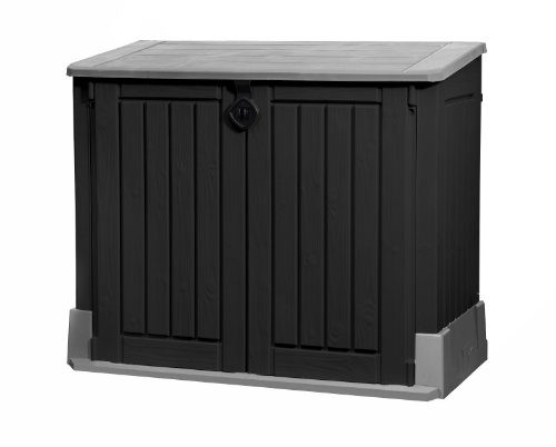 Keter 17197662 Mülltonnenbox, Store it Out Midi, schwarz, 845 L