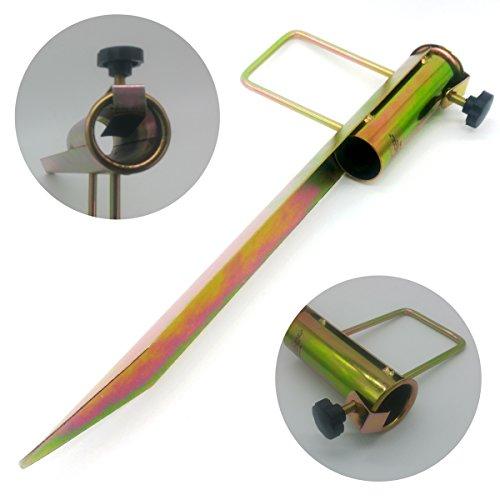 Land-Haus-Shop® Rasendorn Sonnenschirmhalter / Schirm Halter / Metall / Wäschespinne Halter / Standfuß / Masthalter, Erdspieß Bodenhülse, verzinktes Stahlblech