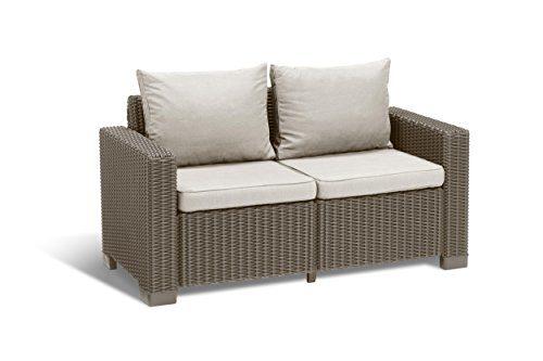 Allibert Lounge Sofa, Balkon, California Cappuccino/Panama Sand, 141 x 68 x 72 cm, Rattan