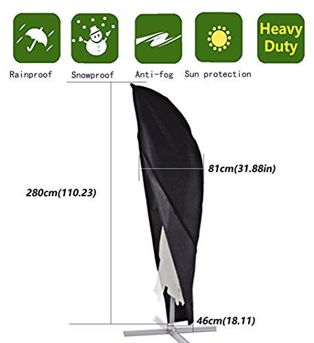 Anderlay Outdoor wasserdichte UV-geschützte Sonnenschirmabdeckung Staubdichte (280 x81 x46)