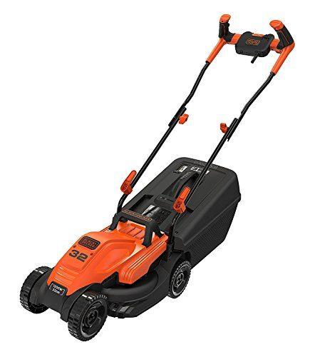 BLACK+DECKER Rasenmäher BEMW451BH-QS, orange/schwarz
