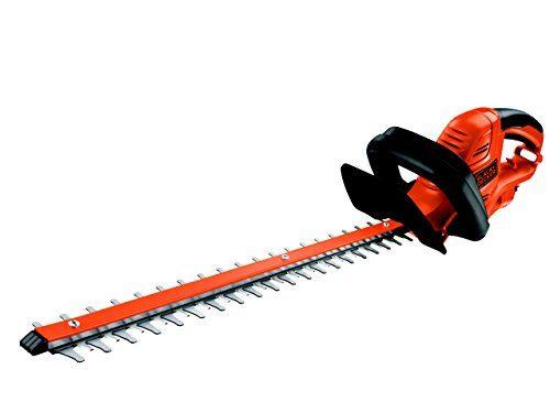 Black+Decker Elektrische Heckenschere GT5055 mit Kabelzugentlastung und Direktanschluss des Verlängerungskabels für maximalen Komfort | 22mm Schnittstärke | 500W | 55cm Sägeblatt-Länge | 2,8kg