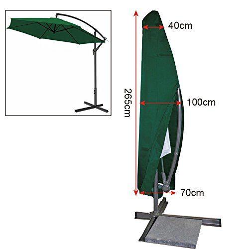 EUGAD Schutzhülle Abdeckhaube für Ampelschirm Gartenschirm Sonnenschirm Abdeckung Abplane GZ1163-a