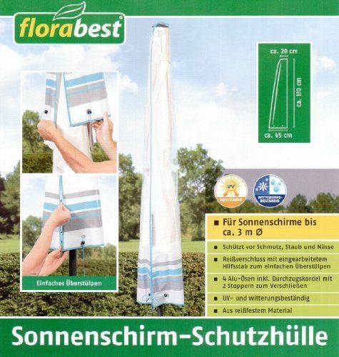 Florabest Sonnenschirm- Schutzhülle für Sonnenschirme bis ca 3 m