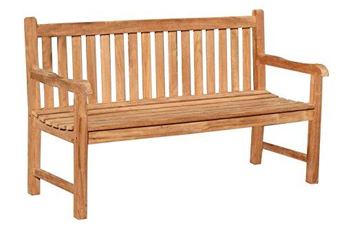 LINDER EXCLUSIV Gartenbank PICADELLY 3-Sitzer 150 cm aus Teak Holz Bank Holz