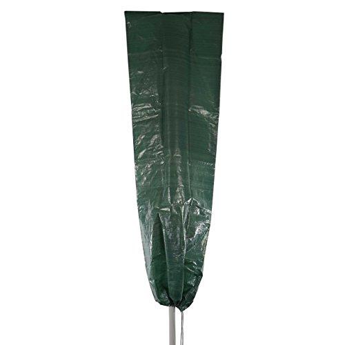Mendler Abdeckplane Abdeckhaube Schutzplane Schutzhülle Regenschutz für Sonnenschirme, 183x66cm