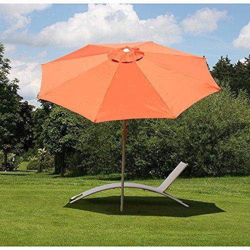 Mendler Alu Sonnenschirm Gartenschirm N19 300cm, neigbar, rostfrei ~ terracotta