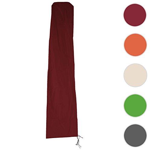 Mendler Schutzhülle HWC für Ampelschirm bis 4,3 m (3x3 m), Abdeckhülle Cover mit Reißverschluss ~ Bordeaux