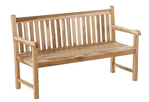 SAM 3-Sitzer Gartenbank Caracas, 150 cm, Sitzbank aus Teak-Holz, Holzbank für Balkon, Terrasse oder Garten [521607]