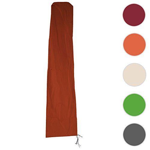 Schutzhülle Meran für Marktschirm bis 5m, Abdeckhülle Cover mit Reißverschluss ~ Terrakotta