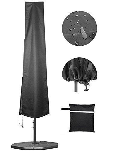 Schutzhülle für Gartenschirm Robust 600D Polyster 100% Wetterfeste Sonnenschirmhülle 2 bis 4 Meter Durchmesser 205x30x50cm