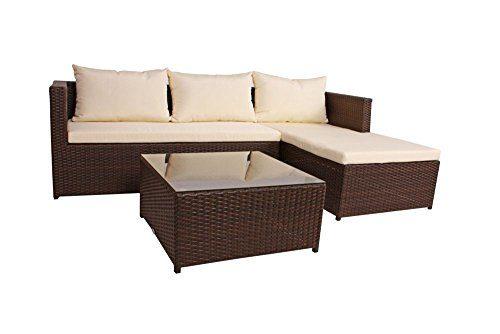 Unbekannt Lounge-Eckgruppe Camden teilzerlegt Stahl/Kunststoffgeflecht Coffee 970231