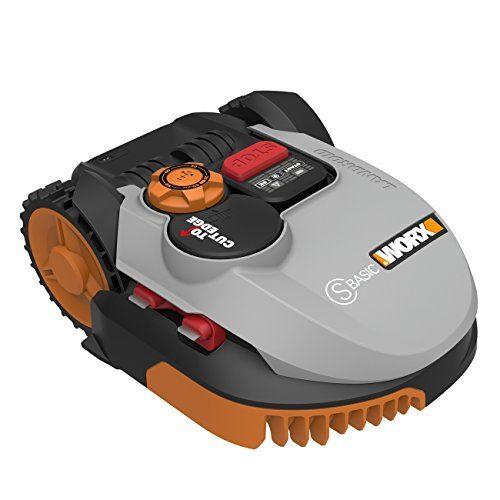 Worx Landroid S-Basic Mähroboter in Grau | Automatischer Rasenmäher für bis zu 300 qm mit AIA Technik für präzise Mäharbeit
