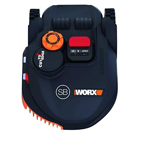 Worx wr102si.1Mähroboter Landroid, 20V, Schwarz Orange, 450qm