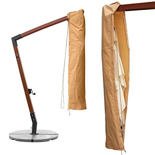anndora Schutzhülle Ampelschirm 3 x 3 m Sonnenschirm Husse Schoner Abdeckhaube - Beige