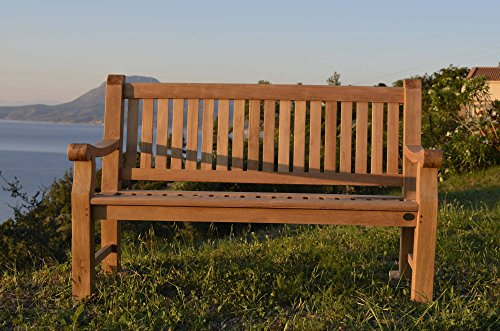 furniture4life Hochwertiger Teak VIERSITZER Parkbank Elefantenbank Gartenbank Sitzbank Garten Bank