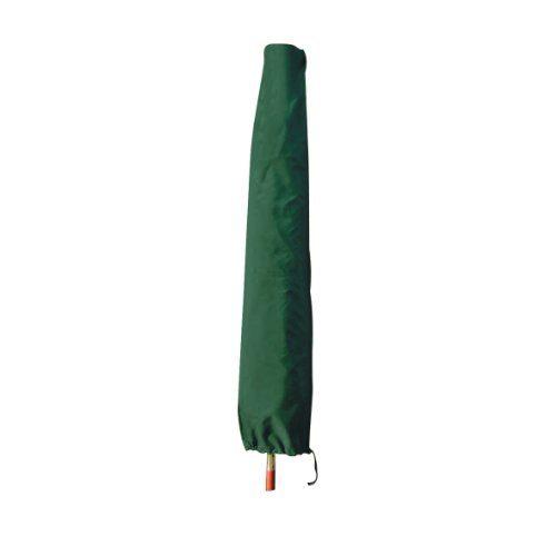 greemotion Schutzhülle für Marktschirm grün, wasserabweisende Schutzplane, zweifach fixierbare Schirmhülle, Abdeckhaube für Schirme aus Polyester