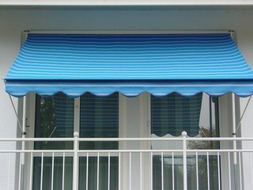 Angerer 2302/9400 Klemmmarkise Dralon Nr. 9400, Blau, 300 cm