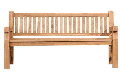 CLP Wetterfeste Gartenbank JACKSON aus massivem Teakholz I Holzbank mit ergonomischer Sitzfläche I In verschiedenen Größen erhältlich 150x60 cm
