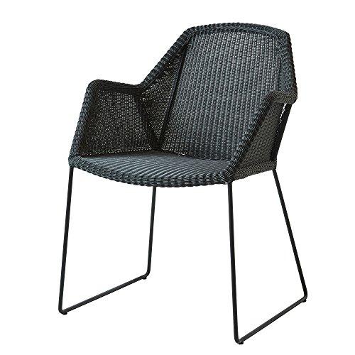 Cane-line® Breeze Outdoor Stuhl Kufengestell schwarz