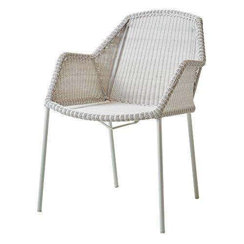 Cane-line® Breeze Outdoor Stuhl Vierfußgestell weiß