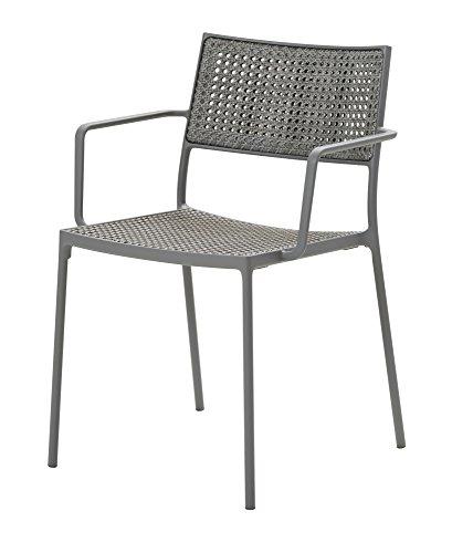 Cane-line® Less Outdoor Stuhl Geflecht hellgrau 2er Set