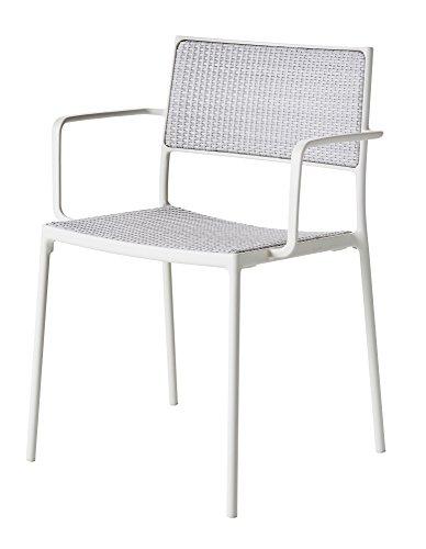 Cane-line® Less Outdoor Stuhl Weave 2er Set weiß