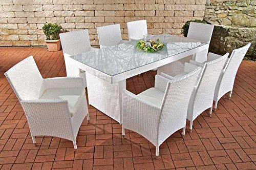 Mendler Sitzgruppe, Sitzgarnitur, Gartengarnitur Avignon BIG, Poly-Rattan ~ weiß