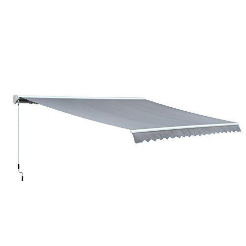 Outsunny® Markise Alu Gelenkarmmarkise Sonnenschutz Handkurbel (Breite: 400 cm, Länge: 300 cm)