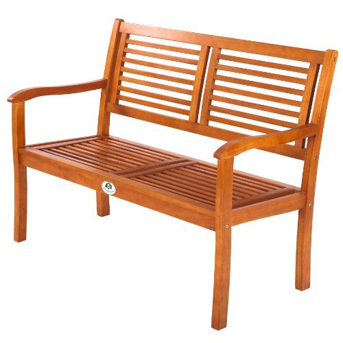 Ultranatura Gartenbank 2-Sitzer, Edles und Hochwertiges Eukalyptusholz, 120 x 56 x 91 cm