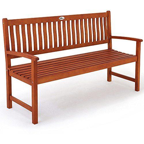 Deuba Gartenbank Maxima 3-Sitzer | FSC®-zertifiziertes Eukalyptusholz In- & Outdoor | Holzbank Sitzbank Parkbank Bank