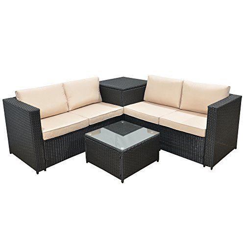 Jalano Poly Rattan Lounge SM1 Set Gartenmöbel Gartengarnitur anthrazit