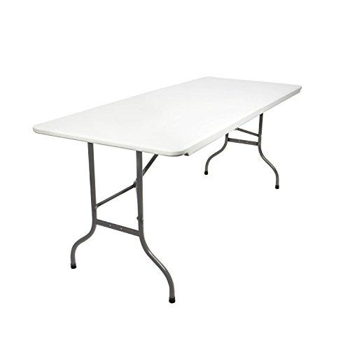 Vanage Gartentisch aus Kunststoff, Klappbar, off-white