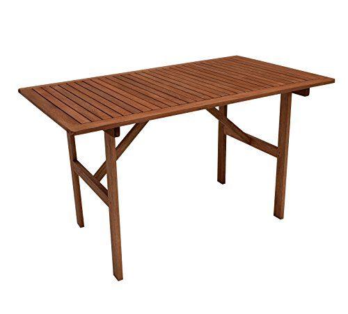 gartenmoebel-einkauf Gartentisch 70x120cm, Eukaylptus geölt, FSC®-zertifiziert
