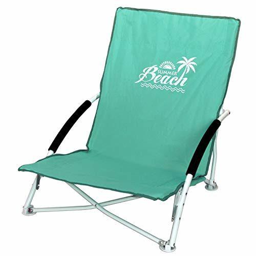 Wohaga Strandstuhl Campingstuhl Summer-Beach inkl. Transporttasche Beachchair Klappstuhl Gartenstuhl Campingmöbel Gartenmöbel, Farbe:Grün