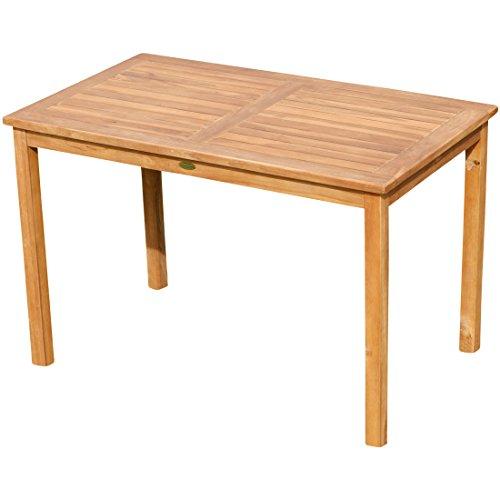 ECHT Teak Gartentische Holztisch Tisch in verschiedenen Größen Serie: Alpen von AS-S, Größe:120x70 cm